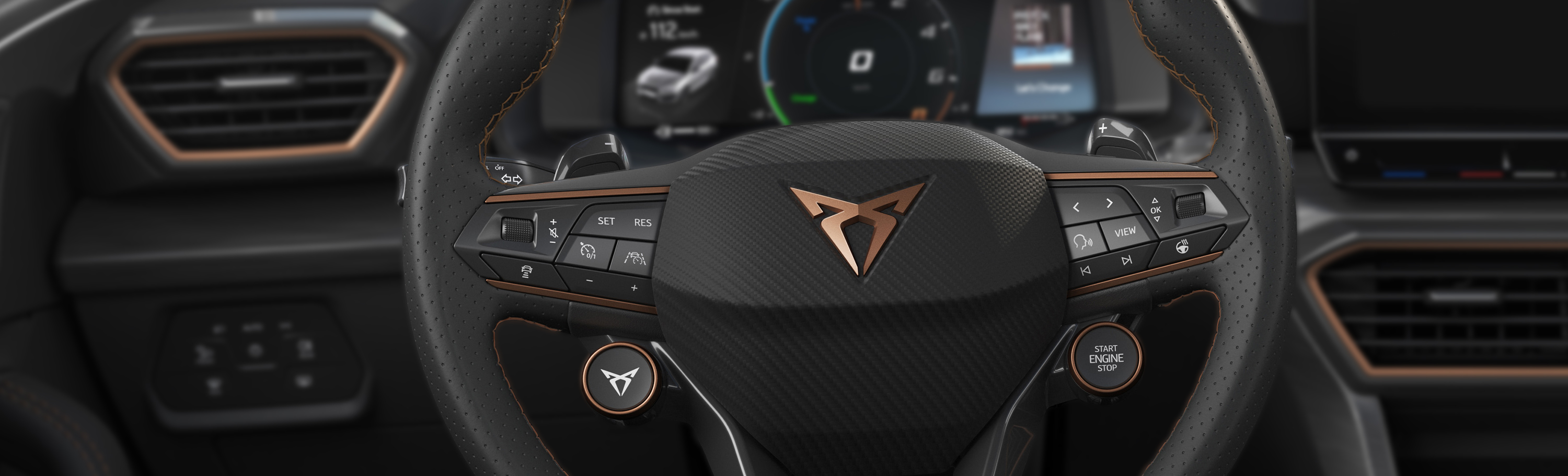 Automotive, Steering wheel, Switches, Cockpit, Control elements, Multifunctional switches